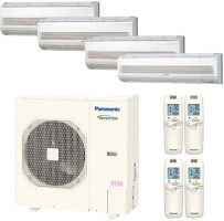 CU4KE31NBU CSMKE9NKU CSMKE12NKU (THREE) Panasonic HEAT PUMP Wall Mount Quad Zone System