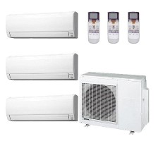 AOU48RLXFZ1 ASU18RLF (TWO) ASU24RLF Fujitsu Heat Pump Wall Mounted Ductless Tri Zone System