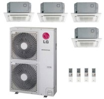 LG QUAD ZONE LMU540HV LMCN125HV (THREE) LMCN185HV Ceiling Cassette Heat Pump