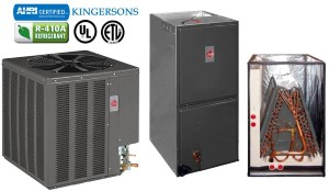 14AJM60A01 RGPE12EARMR RCQD6024AS 5 TON Rheem Gas Furnace Central Split System SEER 14