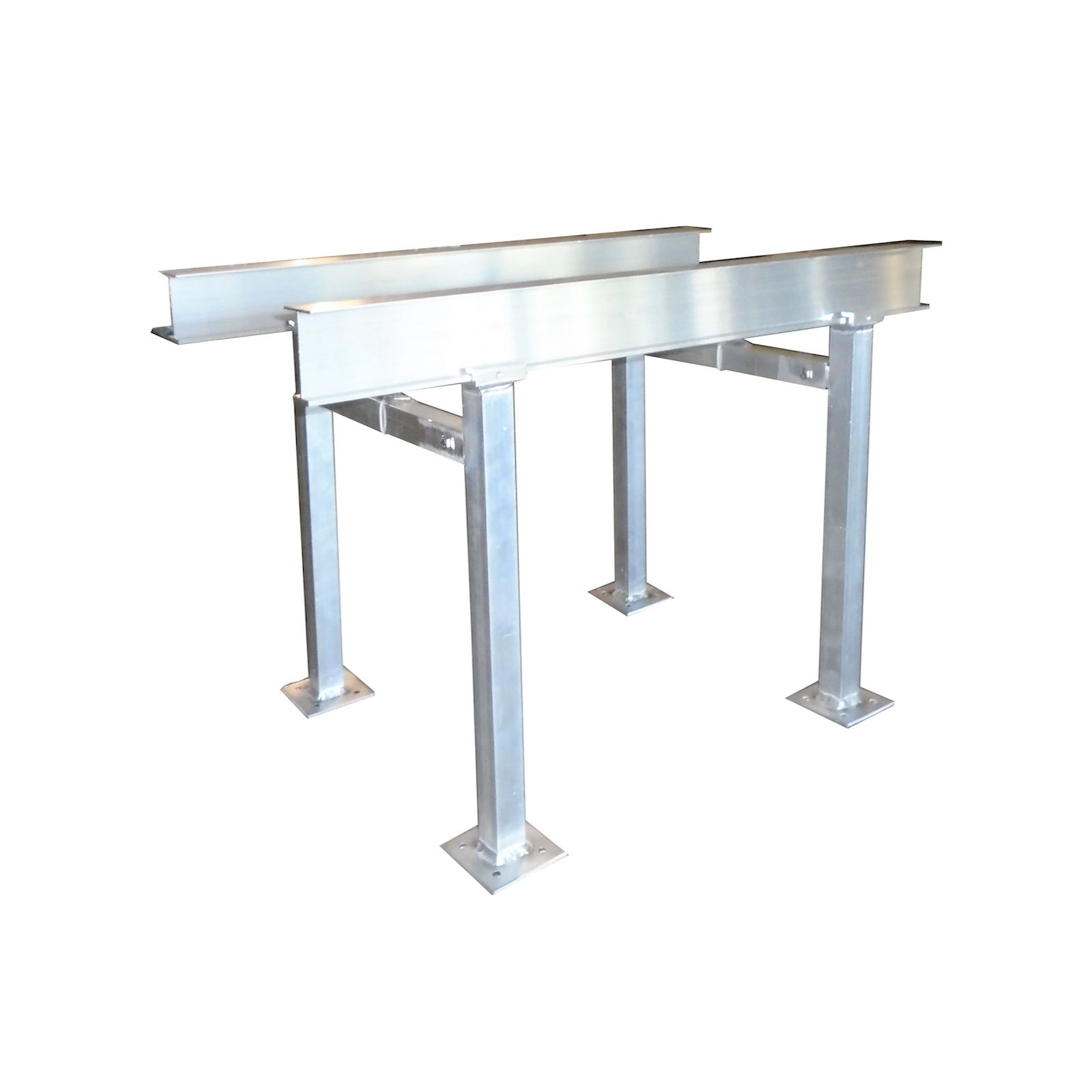 "The Metal Shop 007-606 - #606, Adjustable Aluminum Roof Stand 6' With 24"" Legs"
