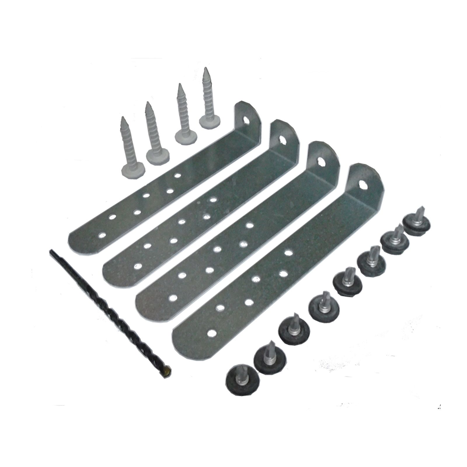 "The Metal Shop 008-774 - 6"" Condenser Anchor Deluxe Kit (4 Clips-Screws-Drill Bit-Tap)"