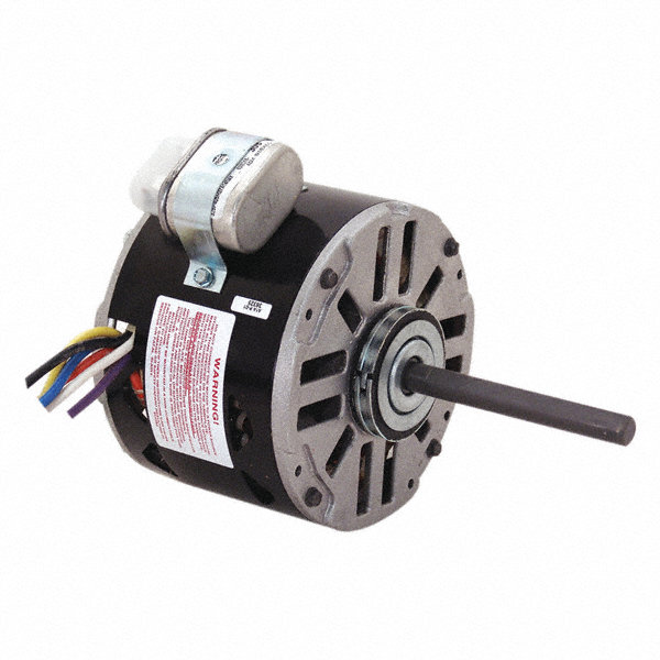 CENTURY 1/8 HP Direct Drive Blower Motor, Permanent Split Capacitor, 1550 Nameplate RPM, 115/208-230 Voltage