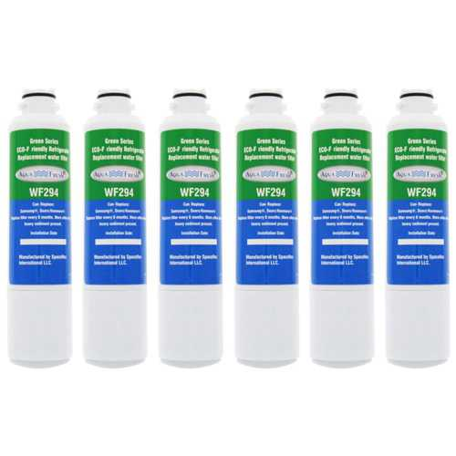 AquaFresh Replacement Water Filter for Samsung RS25H5000SR/AA Refrigerator Model (6 Pack)