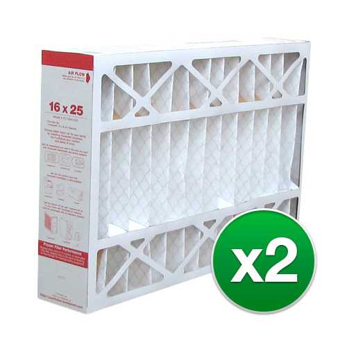 Replacement Pleated Air Filter for For Honeywell CF200A1008 Furnace 16x25x4 MERV 11 (2 Pack)