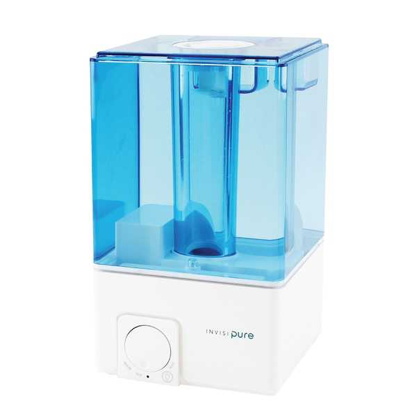 InvisiPure Sky Cool Mist Ultrasonic Humidifier - Quiet, Night Light, Automatic Shut off, 1 Gallon Tank