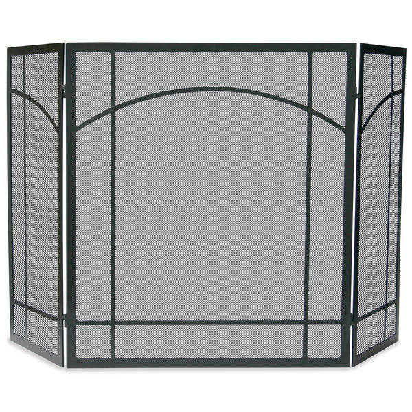 UniFlame 3 Fold Black Wrought Iron Mission Screen