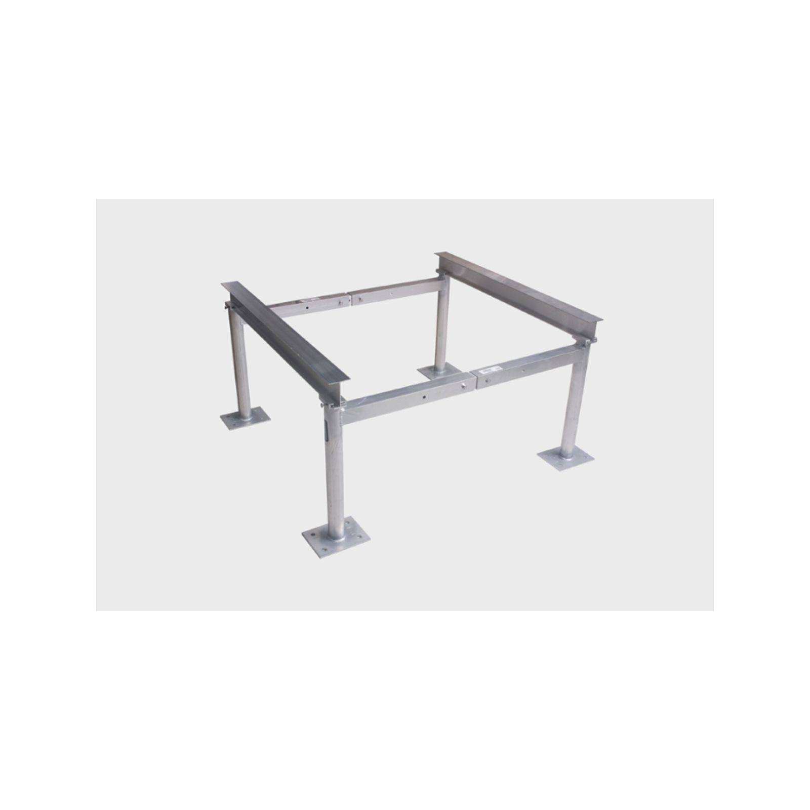 "Miami Tech AS14S24 - Aluminum Condensing Unit Stand Leg Assembly, 20"" - 30"" Spread, 24"" Tall"