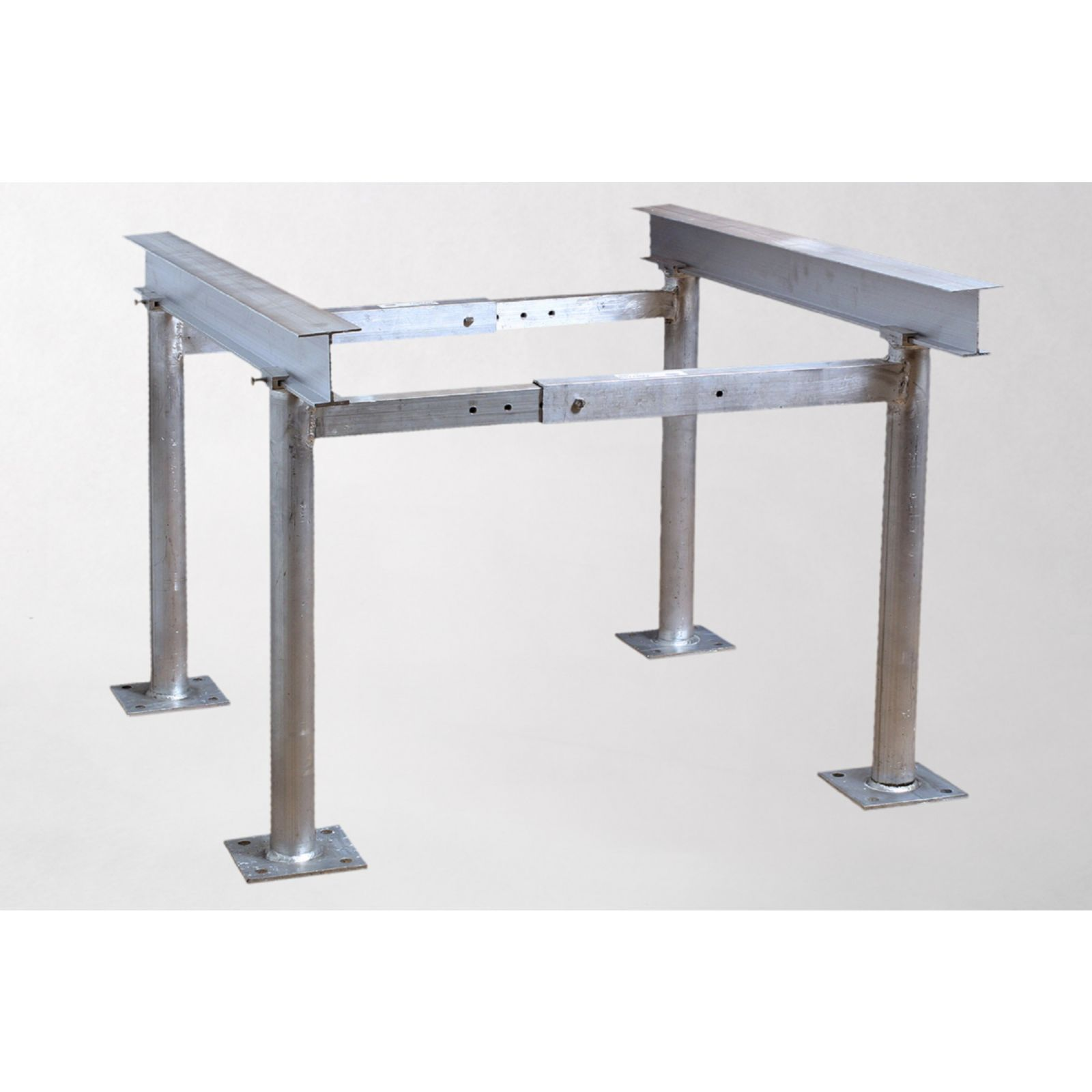 "Miami Tech AST240Q-K3 - Aluminum Condensing Unit Telescoping Stand, 3' I-Beams + 24"" Legs"