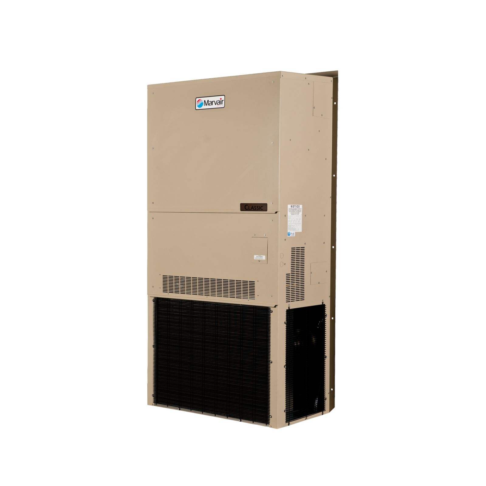 Marvair AVPA72ACC090NU-A2-100 - Wall Mount AC, ComPac I, 6 Ton, 208-230/3,  9KW, Manual Damper, Scroll Compressor, R410A