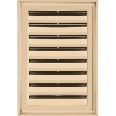 12 in. x 18 in. Rectangle Gable Vent #045 Sandstone Maple