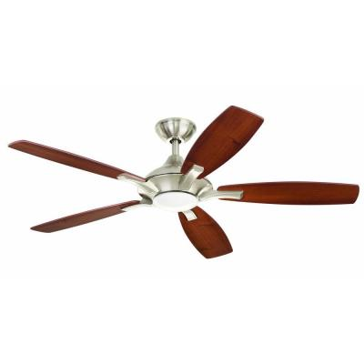 Petersford 52 in. LED Brushed Nickel Ceiling Fan