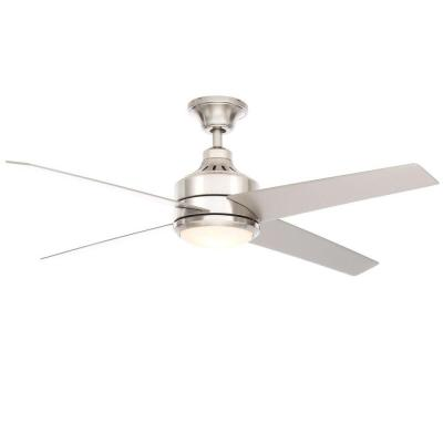 Mercer 52 in. Brushed Nickel Ceiling Fan