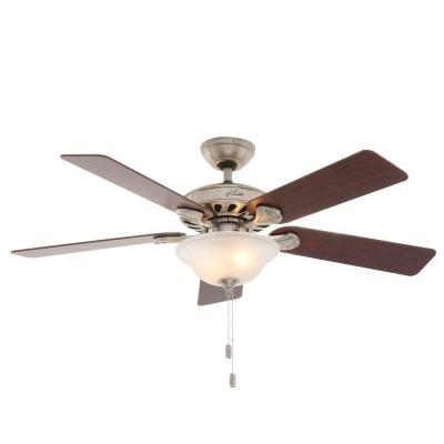 Five Minute 52 in. Brushed Nickel Ceiling Fan