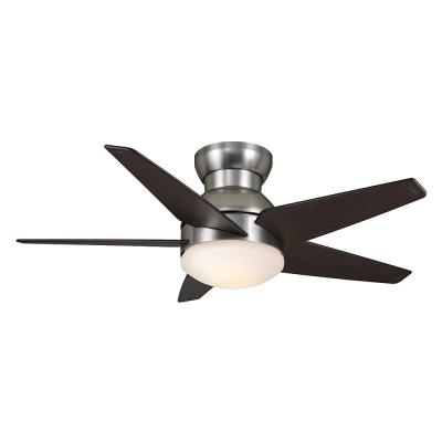 Isotope 44 in. Direct Touch Brushed Nickel Ceiling Fan