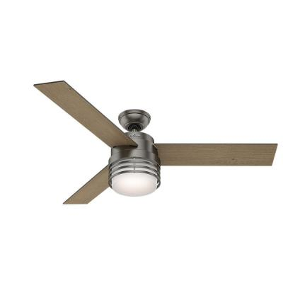 Mayford 54 in. LED Indoor Brushed Slate Ceiling Fan