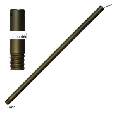 24 in. Rubbed Bronze Oscillator-Type Extension Downrod