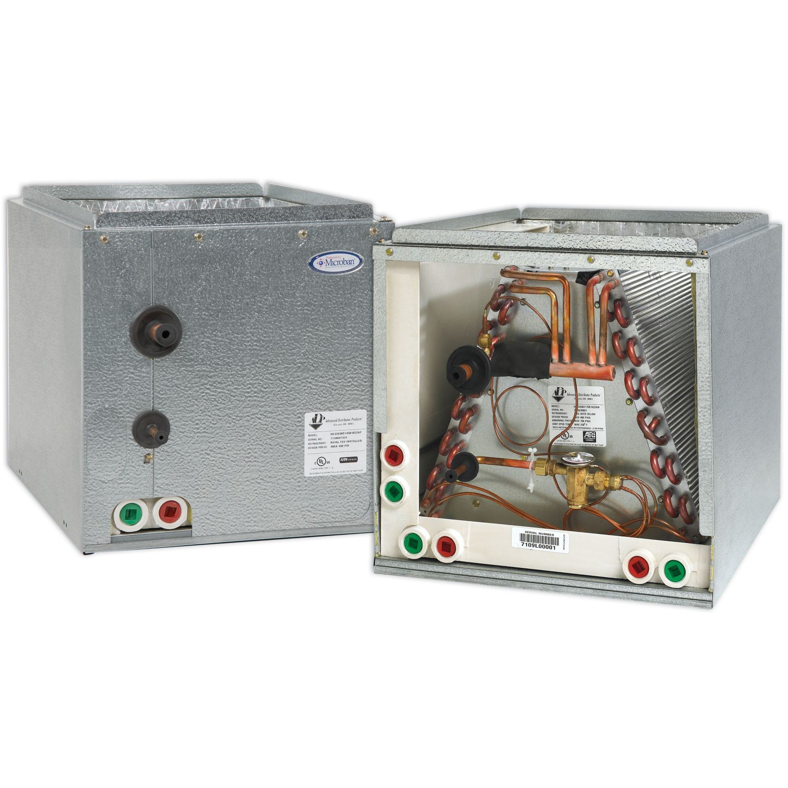 "ADP RE32636C145B1605AP - HE Series Cased Evaporator Coil 3 Ton Copper Left Hand, R410A, 20.5"" X 14.5"" X 16.5"""